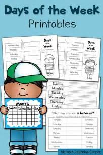 Days of Week Worksheets Printable