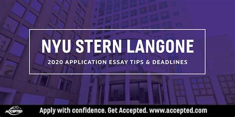 nyu part time mba essay tips deadlines  accepted