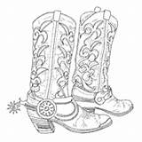 Coloring Clothes Pages Boots Spurs Surfnetkids Shoes sketch template