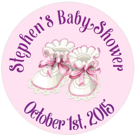 Personalized Stickers For Baby Shower - 117 0 75 quot personalized custom name baby shower shoes