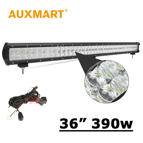auxmart 5d 36 inch led light bar cree chips 390w led bar