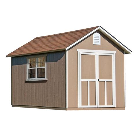 storage sheds home depot handy home products meridian 8 ft x 12 ft wood storage
