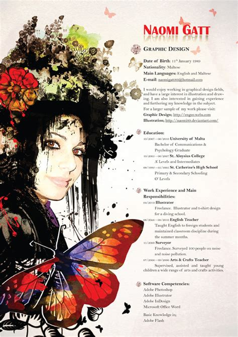 Creative Artistic Resumes by Writing A Great Graphic Design Resume Homework Help