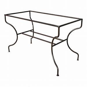 Pied En Fer Forgé : pieds tables ferronnerie ~ Teatrodelosmanantiales.com Idées de Décoration