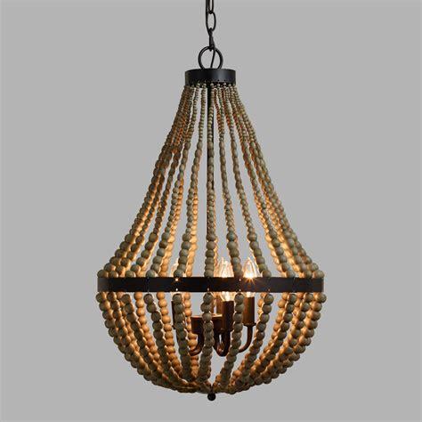 small wood bead chandelier world market