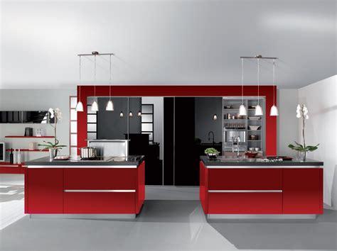 plan de cuisine moderne avec ilot central cuisine équipée et noir