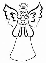 Angel Coloring Pages Printable sketch template