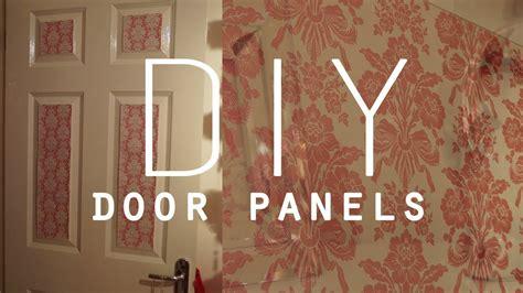 DIY Room Decorations   Wallpaper door panels   YouTube