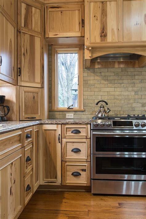 rustic hickory kitchen cabinets mullet cabinet a rustic hickory kitchen with live edge