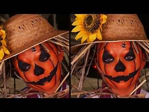 Déguisement Enfant Halloween : maquillage enfant la citrouille d 39 halloween d guisement pouvantail youtube ~ Melissatoandfro.com Idées de Décoration