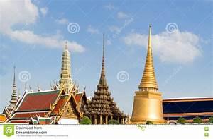 Royal Temple Building Landmark Of Bangkok Thailand Stock ...