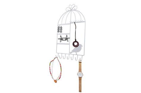 porte bijoux mural en m 233 tal cage a oiseaux blanc pia