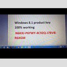 Windows 81 Product Key 100% Working !!! Youtube