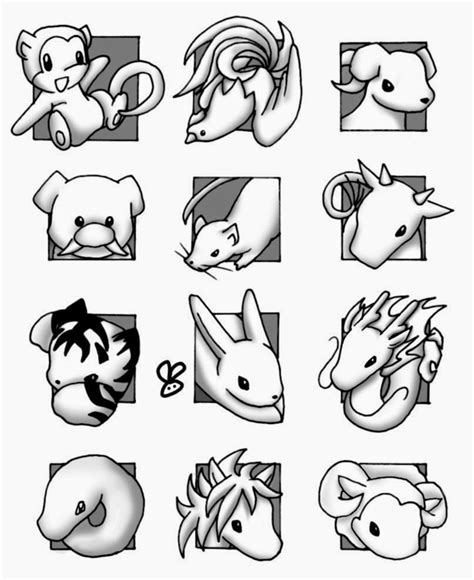 chinese zodiac coloring pages coloring home