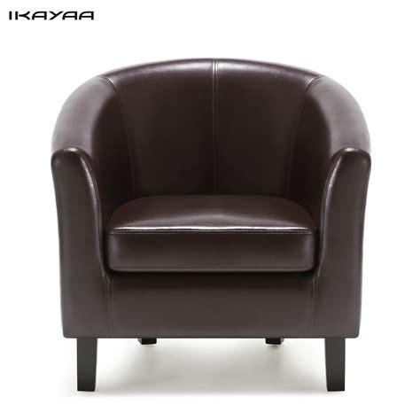 Sofa Chair by Ikayaa Us Fr Stock Chair Pu Leather Barrel Tub Chair