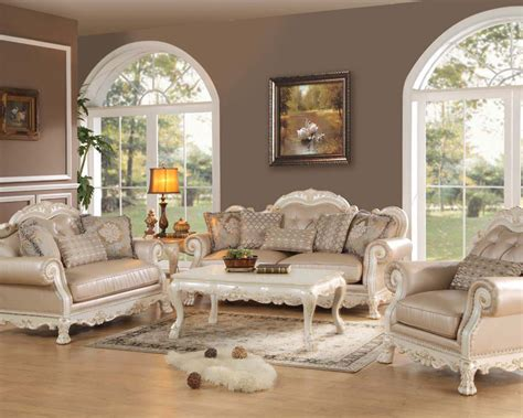 White Sofa Sets by Antique White Sofa Set Dresden By Acme Furniture Ac53260set
