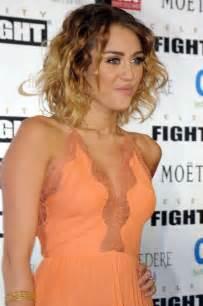 miley cyrus cleavage  celebrity fight night  gotceleb