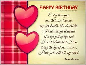 Boyfriend Happy Birthday Quotes | Birthday Wishes Quotes ...