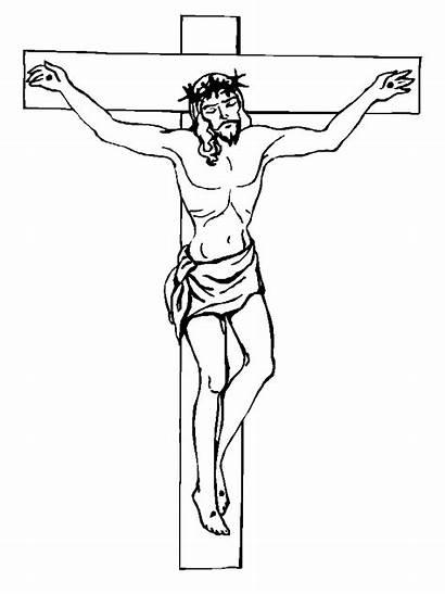 Jesus Coloring Crucifixion Christ Printable Ausmalbilder Isus