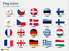 Flag Icons of Europe Countries