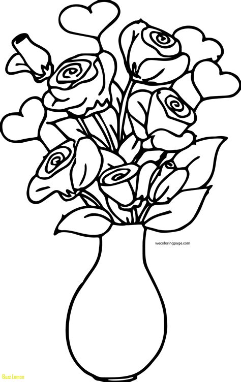 flower vase coloring pages  getcoloringscom
