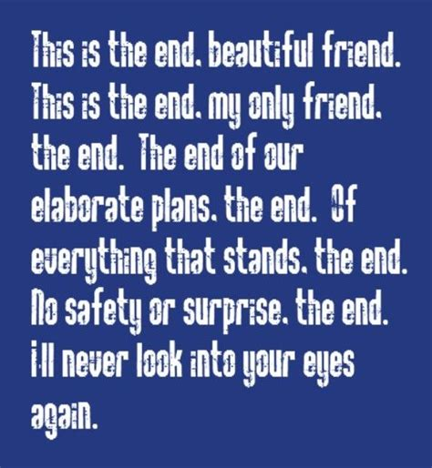 The Doors The End Testo by The Doors The End Song Lyrics Songs Lyrics