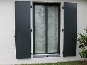 fenetre fleac tryba gris anthracite et volets battants alu With porte de garage enroulable avec cout porte fenetre pvc double vitrage