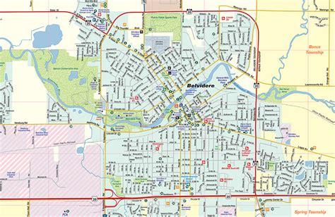 belvidere illinois map partistunisie