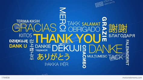 Thank You Wallpaper Animated - thank you in different languages stock animation 1744838