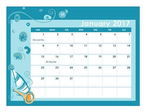 calendar template  colorful design  printable