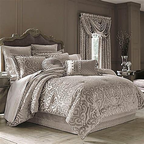 blue gray comforter j york sicily comforter set in pearl bed