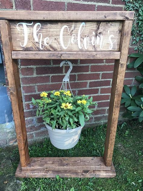 spring special plant stand personalized wood planter