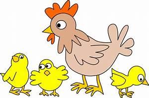 Hen With Three Chicks Clip Art at Clker.com - vector clip ...