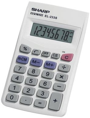 Sharp Basic Calculator, White - SCHOOL SPECIALTY MARKETPLACE