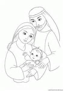 Angel Mary and Jesus Coloring Page