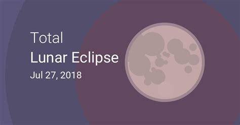 total lunar eclipse july