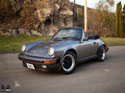 grey porsche 911 convertible 1986 porsche 911 convertible for sale 22 used cars from