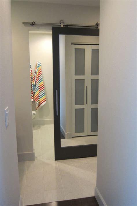 sliding bathroom door  mirror   home pinterest