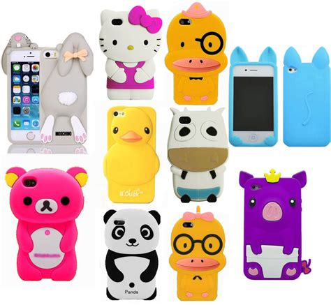 iphone 5c 3d cases 3d new qute mix animals soft silicone for 2428