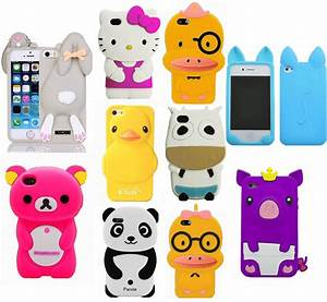 3D New Qute Mix Cartoon Animals Soft Silicone Case For ...