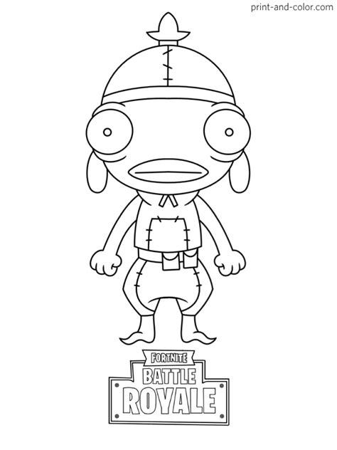 disegni da colorare fortnite skin season 9 fortnite battle royale coloring page fishstick chibi skin