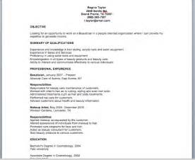 beautician resume