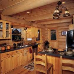 Rustic Log Cabin Kitchen Ideas by Distressed White Cabinets Artflyz