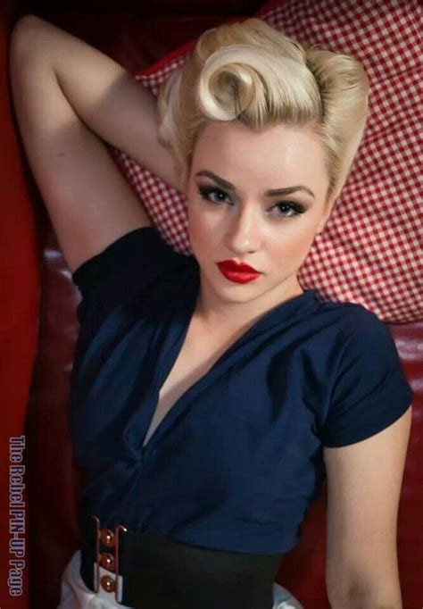 50s Roll Hairstyle by Los Angeles Vintage Pinup Makeup Artist Gt Gt Angela Tam