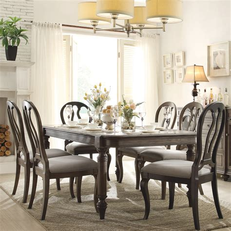 belmeade wood rectangular dining table and chairs in
