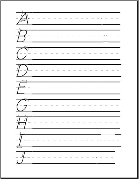 Printable Zaner Bloser Handwriting Worksheets Trials Ireland