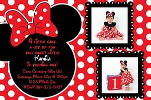 Red Minnie Mouse Birthday Invitations DolanPedia