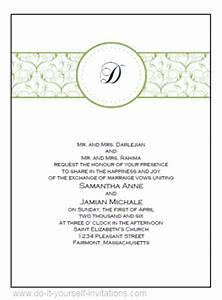 diy printable wedding invitations templates With wedding invitation pdf print yourself