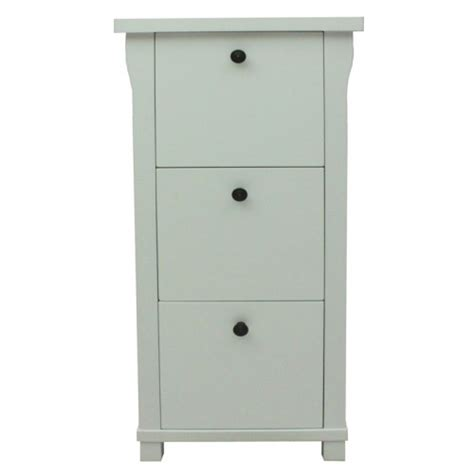 hton white painted 3 drawer filing cabinet