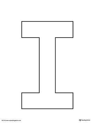 uppercase letter  template printable letter templates